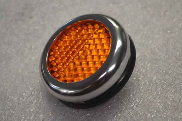 Lucas RER25 Amber Orange Reflector - Replica - Norton Triumph Moto Guzzi BSA