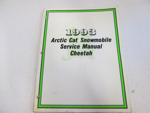 Arctic Cat Service Shop Manual 1993 Cheetah - Used