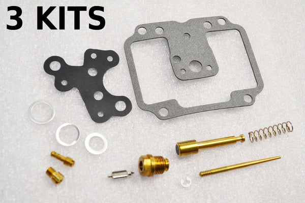 3x Suzuki 74-77 GT750 Carburetor Carb Rebuild Kit - 3 KITS