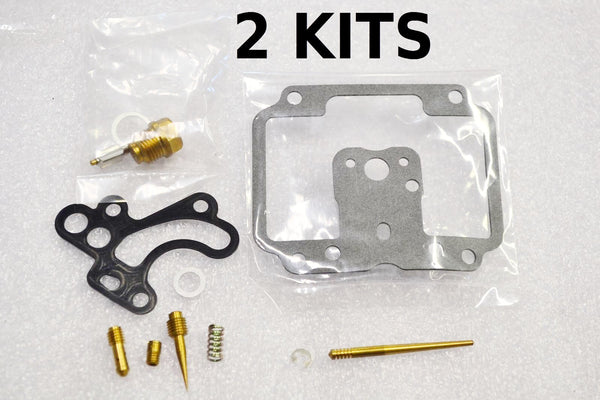 2x Kawasaki 76-79 KZ750 KZ750B Twin Carburetor Carb Rebuild Kit - 2 KITS