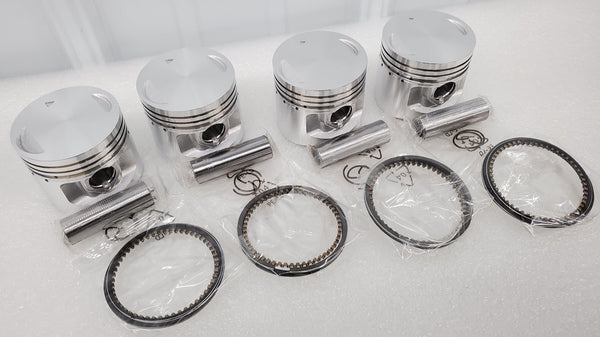 Honda 71-73 CB500 CB500K Piston Kit - 4 Kits - .25mm Oversize - 56.25mm