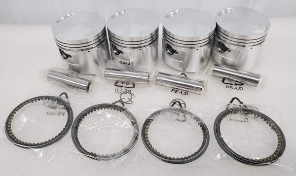 Honda 69-76 CB750 CB750K Piston Kit - 4 Kits - .25mm Oversize - 61.25mm