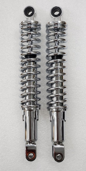 Honda CB400F CB500T CB550F CB550K CB360T 321mm Rear Shocks Chrome Eye / Clevis