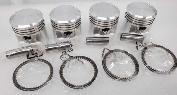 Honda 75-77 CB400F Super Sport Piston Kit - 4 Kits - .50mm Oversize - 51.50mm