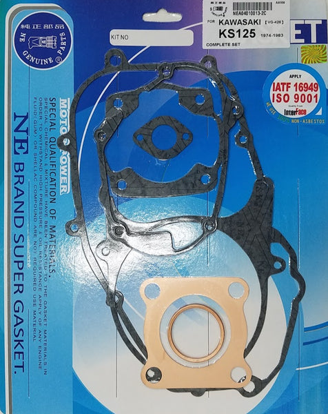 Kawasaki 74-83 KE125 76-79 KD125 74-77 KS125 Complete Engine Gasket Kit Set