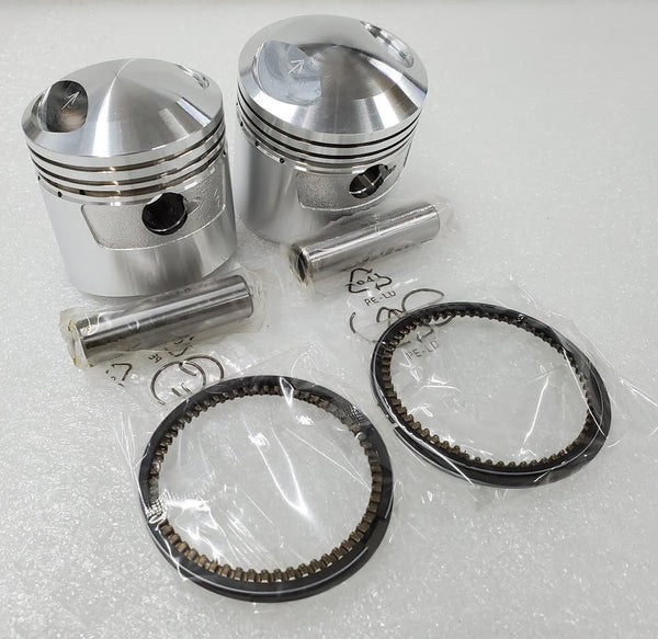 Honda CB350 CL350 SL350 Piston Kit < 2 Kits > .25mm 0.25mm OS - New Repro