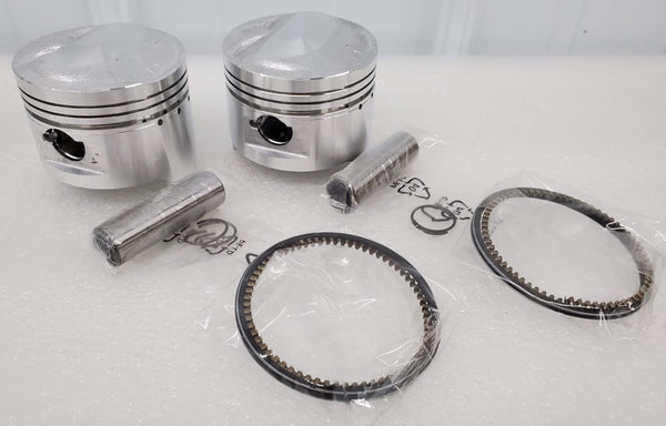 Honda 78-79 CB400T 79 CM400T Piston Kit - 2 Kits - .25mm Oversize - 70.75mm