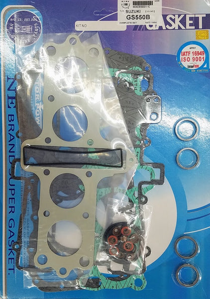 Suzuki 77-78 GS550 78-80 GS550E 79-82 GS550L Complete Engine Gasket Kit Set