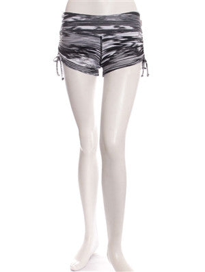 Black Vista Print Breath Shorts