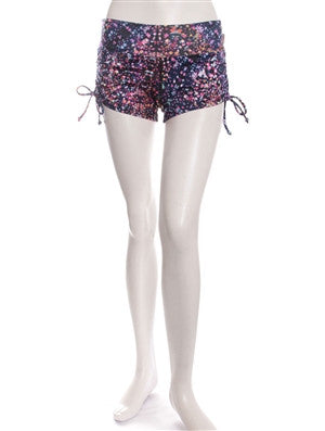 Blue Pixel Print Breath Shorts