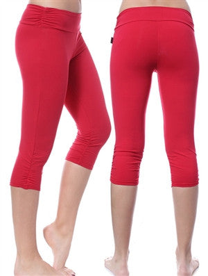 Shirred Kick Capri