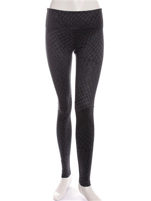 Grey Steel Print Studio Legging