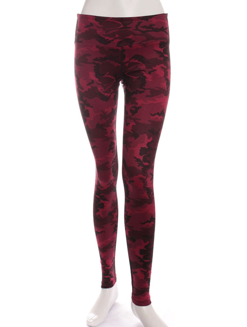 Red Camo Print Studio Legging