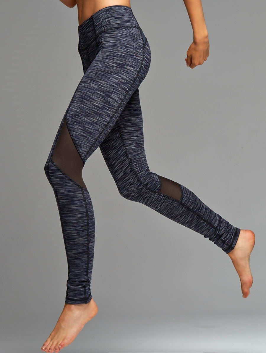 Kosmic Mesh Inset Space Dye Legging