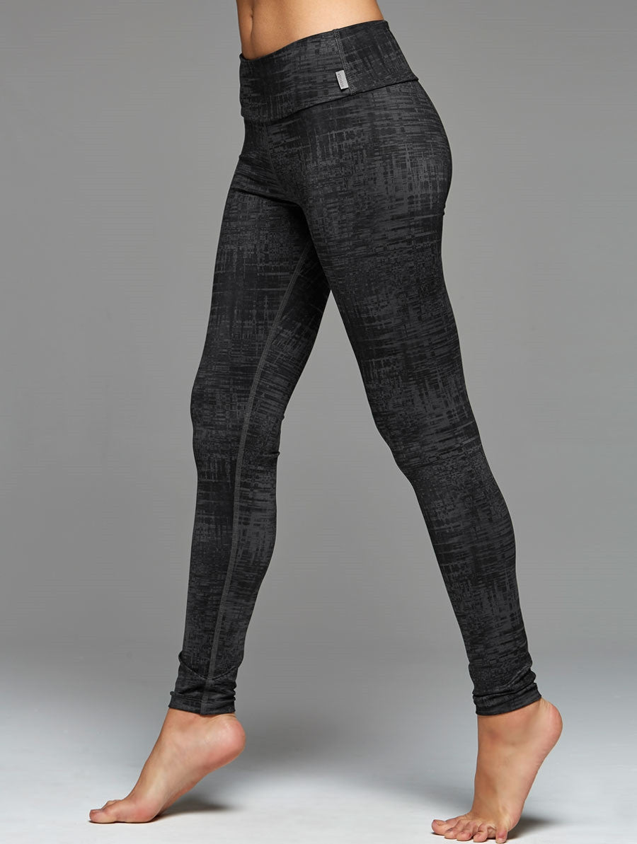 Studio Print Legging-Black Ice