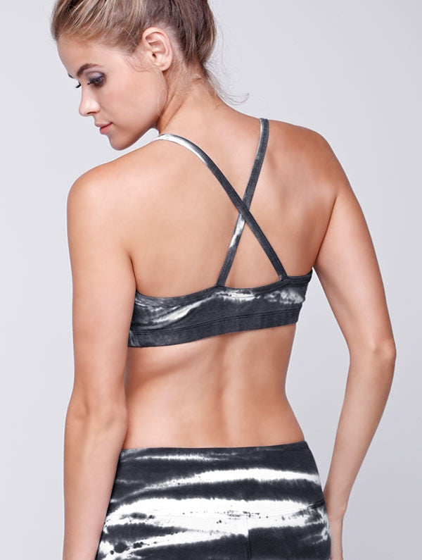 Zebra Tie Dye Bra Top - Sale item