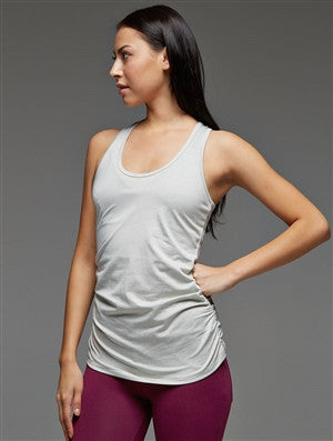 Side Shirred Racerback Tank Top