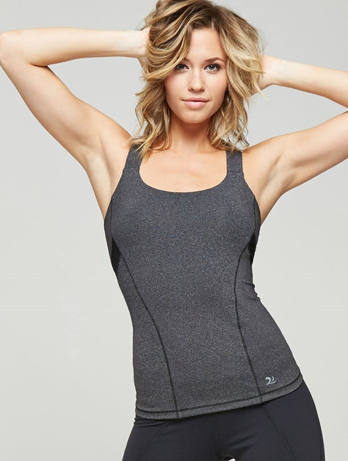Mesh Inset Curved Tank-Sale Item