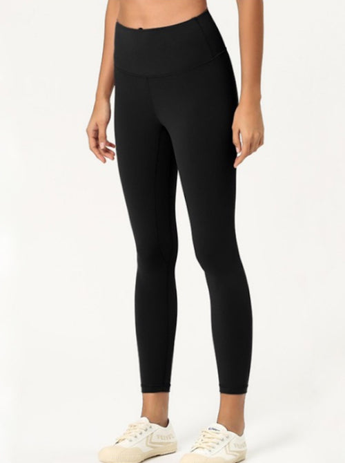 Side Mesh Mid-Rise Legging