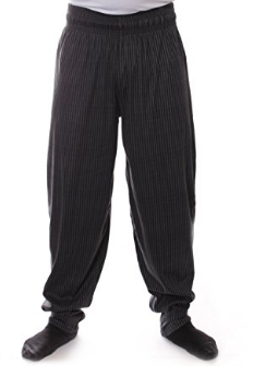 Charcoal Bubble Stripes Baggy Muscle Pants
