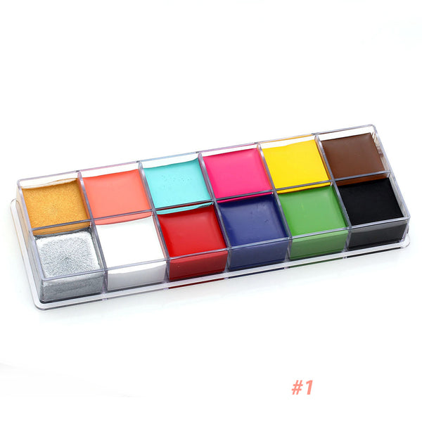 Professional Face Body Oil Paint 12Colors Painting Art Fancy Make Up