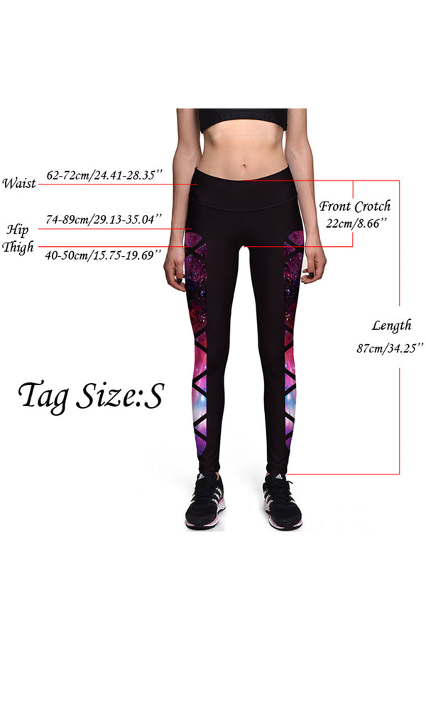 Ayliss Women Digital Print Leggings Stretch Tight Pant Ninth Pants