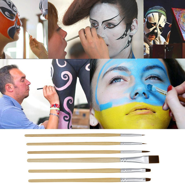 Professional Face Paint Oil 24 Colors Body Painting Art Party Fancy Make Up+ Brushes Set, #3
