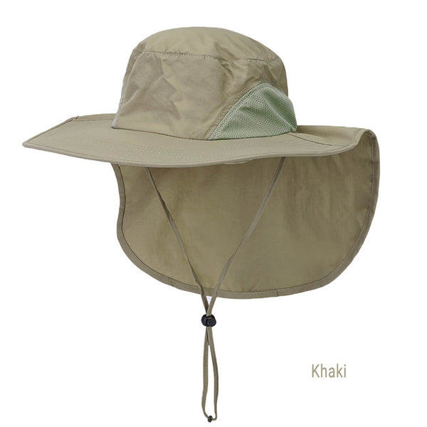 Ayliss Wide Brim Safari Hat UV Protection Sun Hat Outdoor Fishing Hat with Neck Flap Cover