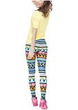 Ayliss Women Printed Leggings Elastic Pants Multi-color Printed