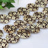 30mm Shell Gemstone Round Flower Pattern Loose Bead for Jewelry Making -