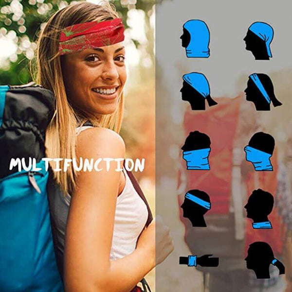 4pcs Windproof Seamless Face Mask Bandana for Riding Cycling Motorcycle Multifunctional Headwear