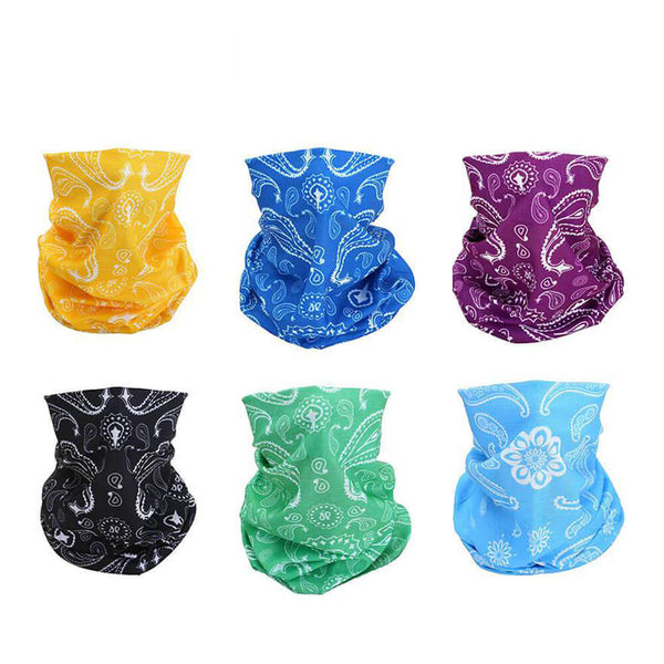 6 pcs Windproof Seamless Face Mask Bandana for Riding Cycling Motorcycle Multifunctional Headwear