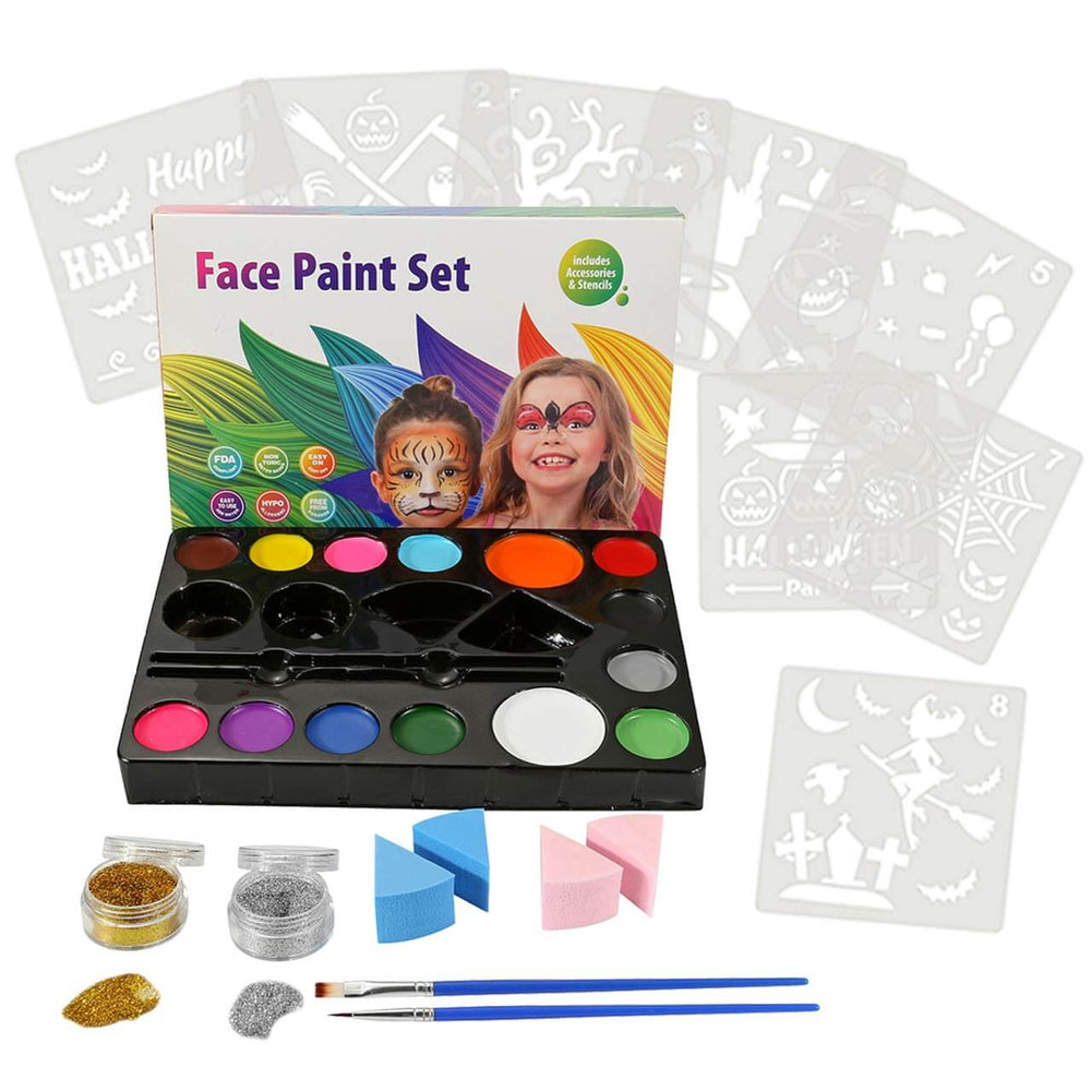 Art Face Painting Kit for Kids Adults, 14 Colors Professional Face & Body Paints