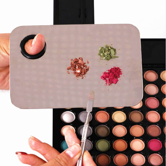 Palette Kit Nail Art Palette Cosmetic Makeup Mixing Palette Ring Set for Blending Paint