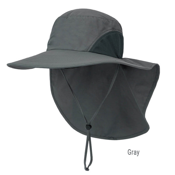 Ayliss wide brim safari beach hat outdoor sun hat with neck flap cover