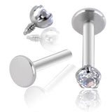 1Pc Stainless Steel Labret Tragus Cartilage Ear Stud Earrings Silver