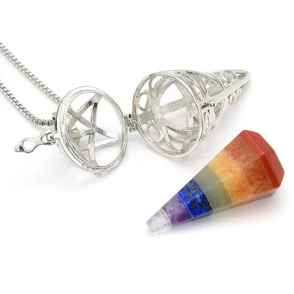 7 Chakra Reiki Healing Crystal Locket Necklace