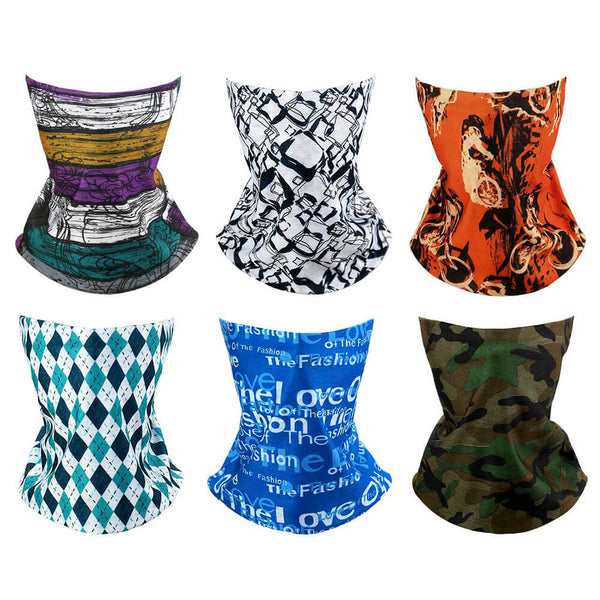 3Pcs Seamless Bandana Balaclava Neck Gaiter Headwear Scarf Helmet Liner Outdoor Activities Sports