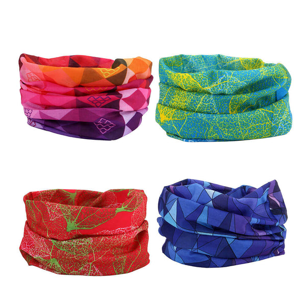 Ayliss 4pcs Windproof Seamless Face Mask Bandanas for Riding Multi-functional Headwear