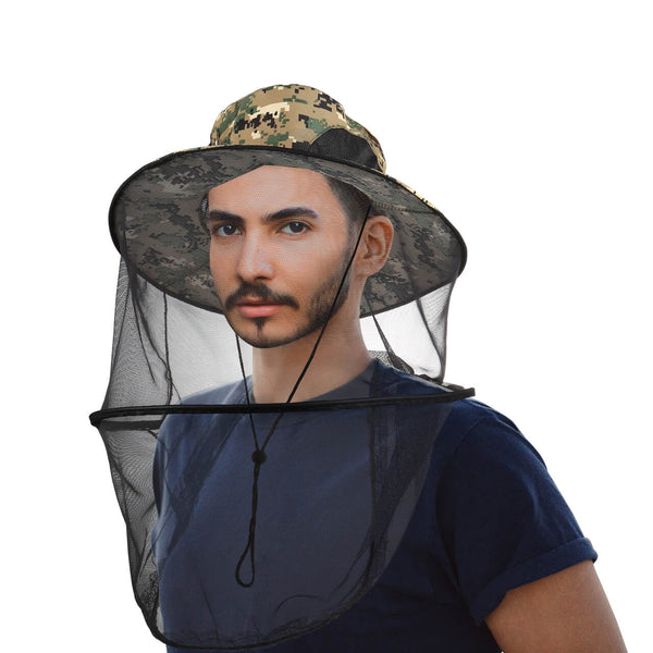 Protective Hat with Net Mesh, Outdoor Protection from Insect, Viruses
