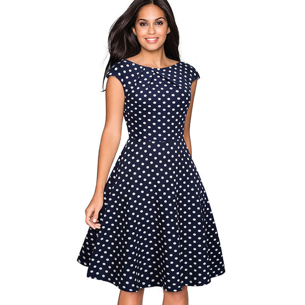 Ayliss summer elegant polka dot a line dress for women
