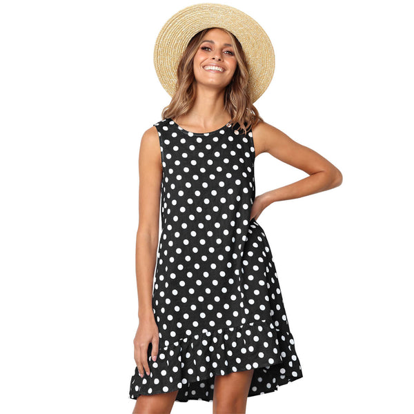yca030601  ayliss 2019 Polka Dot Printed dress
