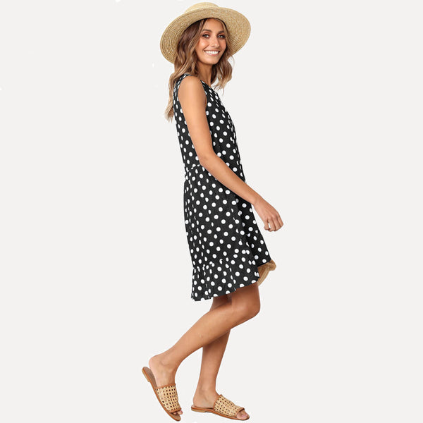 yca030601 ayliss girl summer dress with dot
