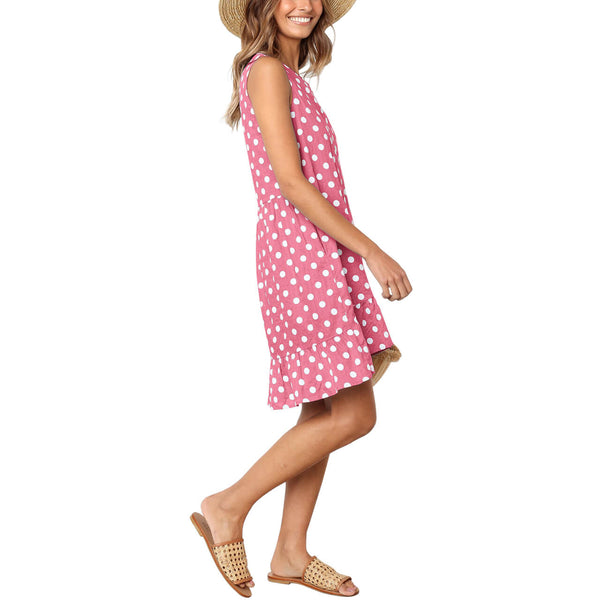 yca030605 ayliss 2019 pink and white polka dot dress