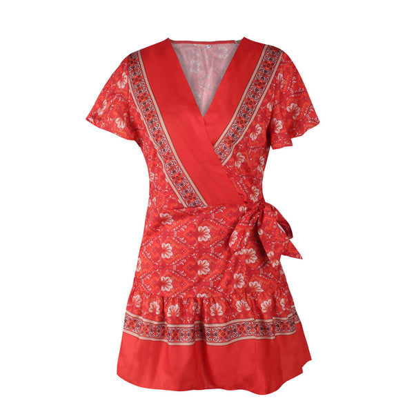 Ayliss casual summer dress for women daily wear bohemian style mini dress