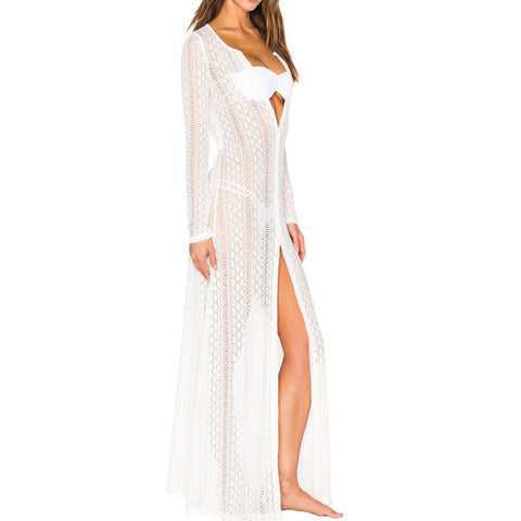 Ayliss Women's Lace Long Kimono Cardigan Maxi Bikini Swimsuit Dress Cover Up