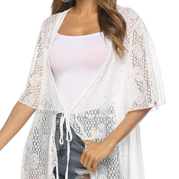 Ayliss women summer white beachwear cover up bathing suit cover