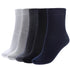 Men's Classic Cotton Ankle Socks - 5 Pairs