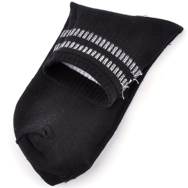 Men's Striped Quarter Athletic Cotton Socks - 3 Pairs