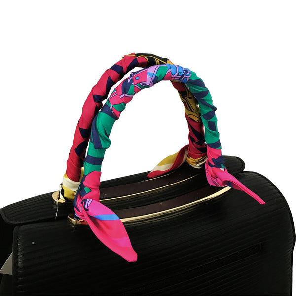 Milti-Use Silk Scarf Hairband Handbag Handle Ribbon Scarf Accessory
